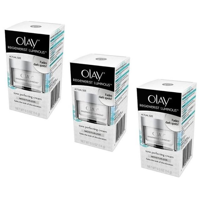 3-Pack Olay Regenerist Luminous Tone Perfecting Cream, 0.5 Oz