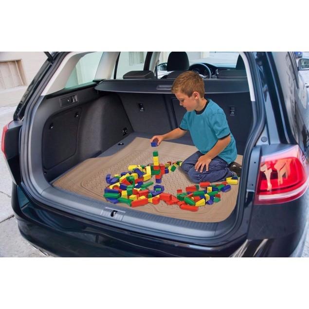 Zone Tech Trimmable Car Auto Rubber Beige Cargo Trunk Heavy Duty Floor Mat