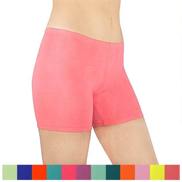 6-Pack Women's Cotton Stretch Vibrant Color Boy Shorts