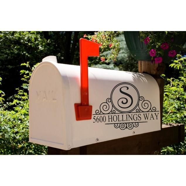 Initial Swirl Frame Mailbox Decal