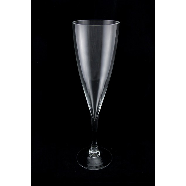 16 Inch Tall Clear Glass Champagne Flute Vase Decorative Vases