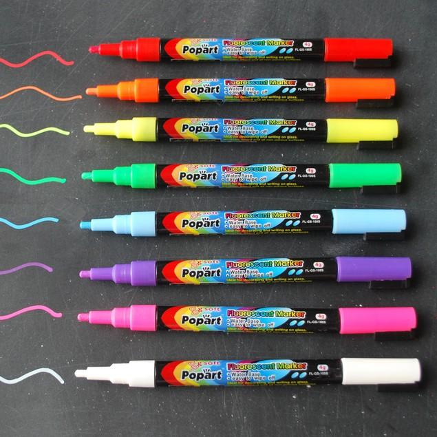 8 Pack Premium Fine Tip Fluorescent Chalk Marker