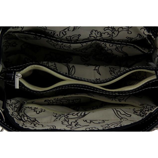 Chevron Studded Rhinestone Buckle Mock Croc Womens Shoulder Handbags