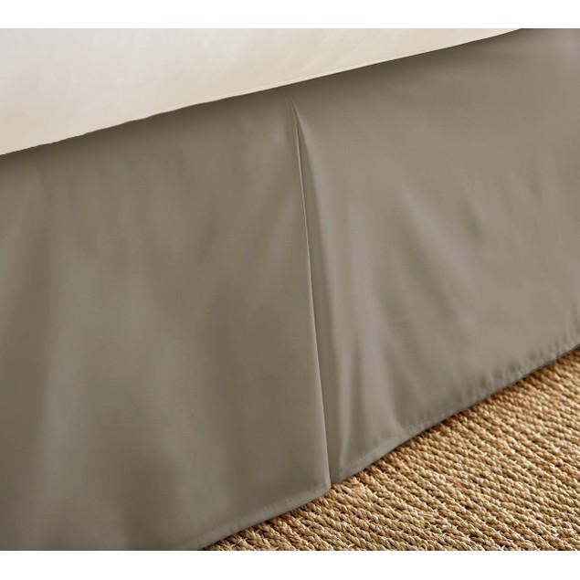 "Merit Linens Premium Pleated 14"" Drop Bed Skirt Dust Ruffle"
