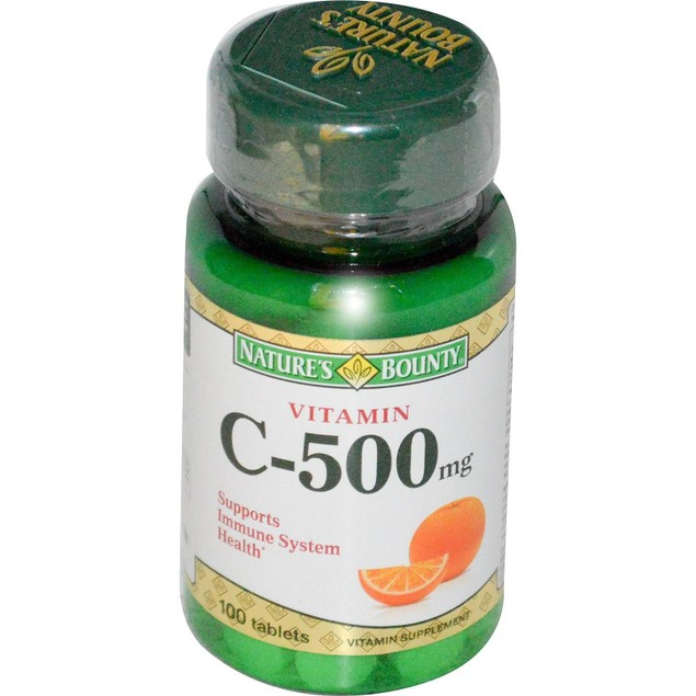Nature's Bounty Vitamin C-500mg 100 Tablets Bottle New Sealed