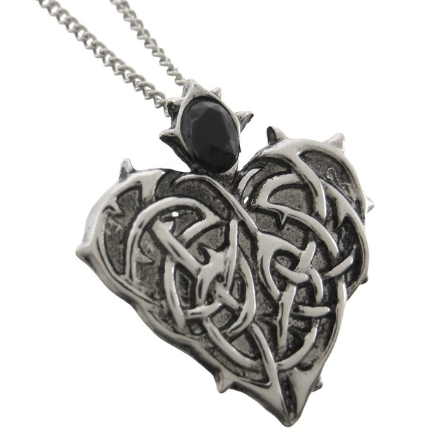 Barbed Heart Eternal Love Pendant / Necklace Womens Pendant Necklaces