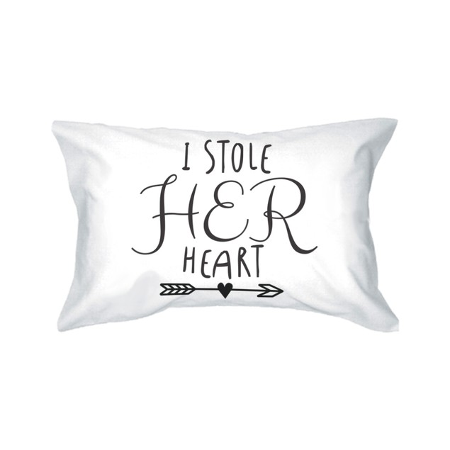 Stealing Hearts Pillowcase for Couples