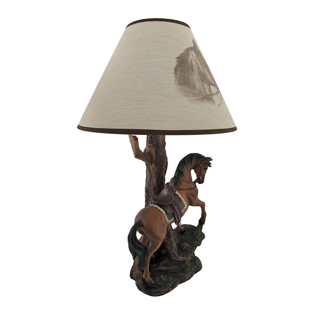 `Light Fantastik` Saddled Horse Table Lamp With Table Lamps