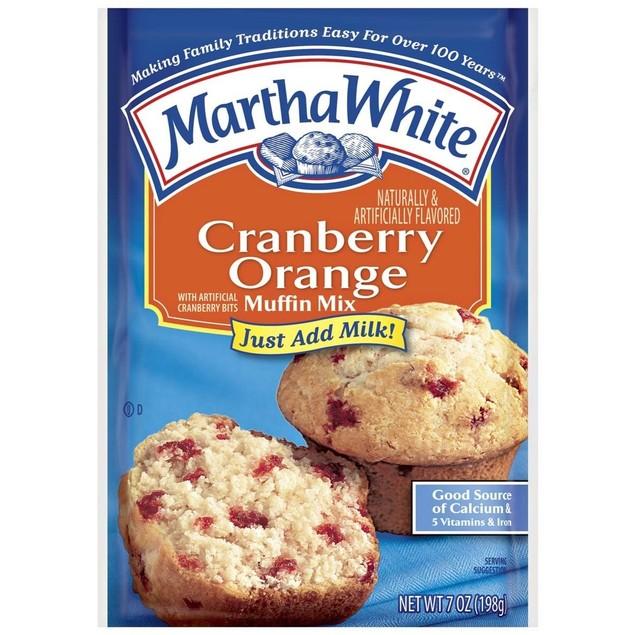 Martha White Cranberry Orange Muffin Mix 7 oz Bag
