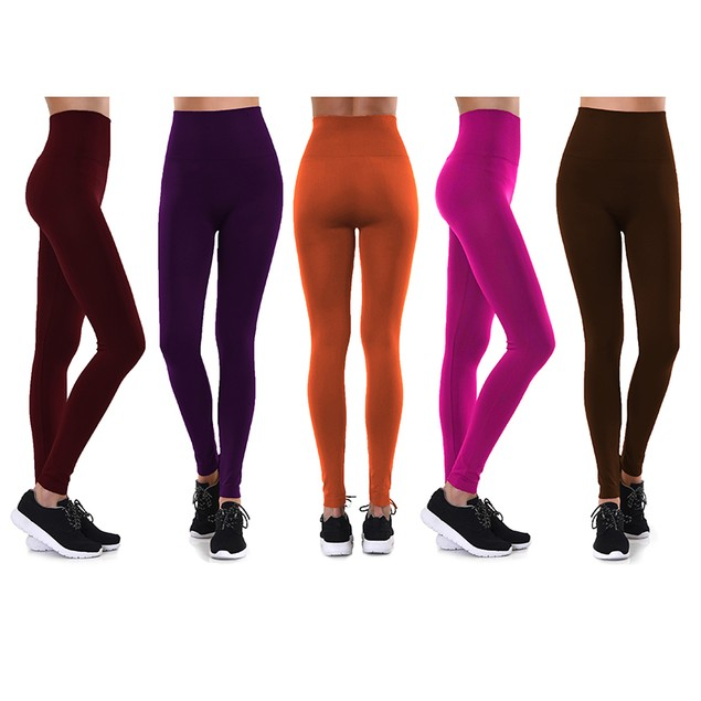 4-Pack Women's Fashion Leggings - 6 Style Options