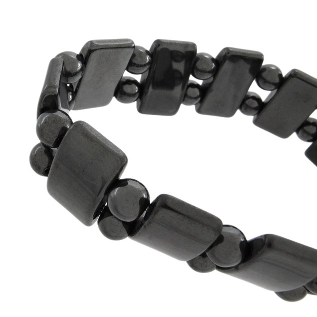 Stylish Black Hematite Bead Ladies Stretch Womens Stretch Bracelets