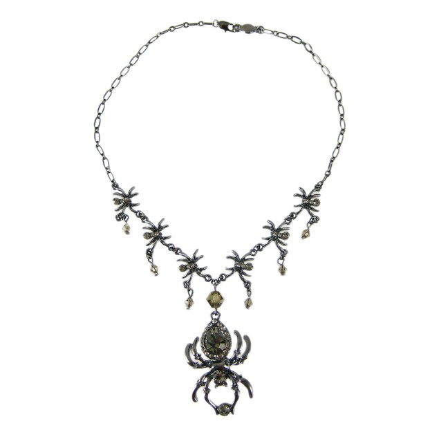 Spider Rhinestone Chandelier Necklace