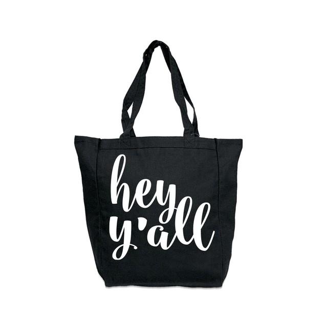 Hey Y'all Black Tote Bag