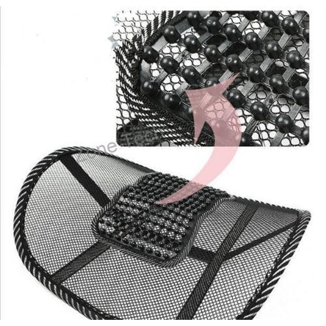 Zone Tech 3x Black Mesh Massage Lumbar Back Seat Chair PostureSupport