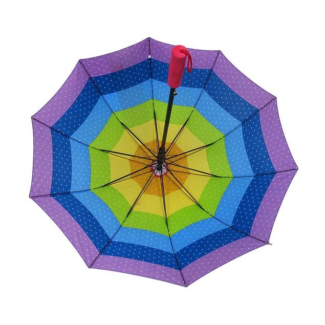 Stars In The Rainbow Colorful Auto Open Stick Umbrellas