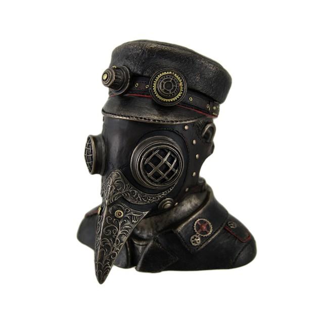 Steampunk Plague Doctor Antique Bronze Finish Decorative Boxes