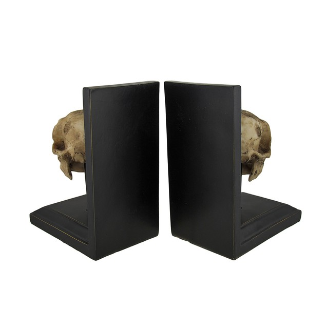 Mounted Neanderthal Skull Bookend Set Of 2 Decorative Bookends