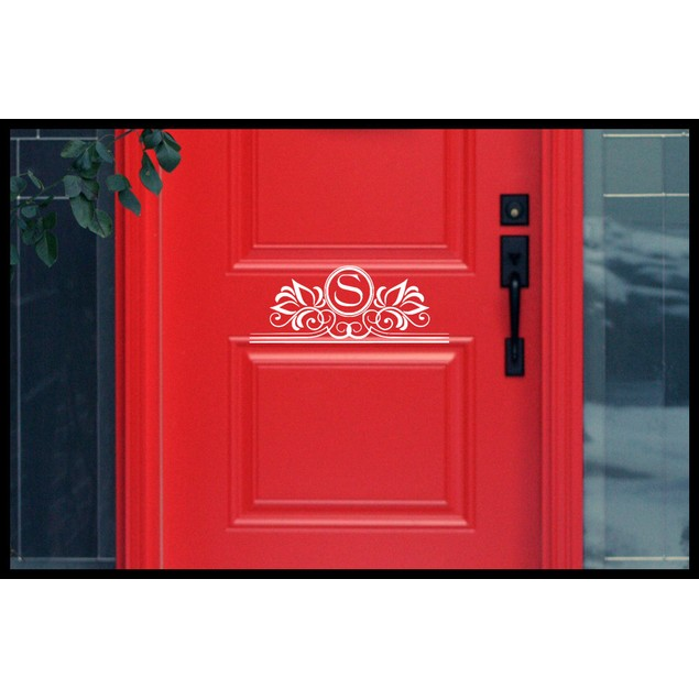 Personalized Initial Door Decal 3