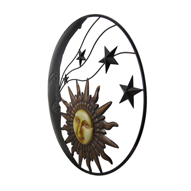 Celestial Metal Moon Sun And Stars Wall Art Wall Sculptures