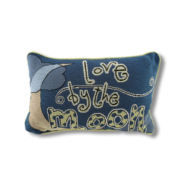 Reversible `Live By The Sun/Love By The Moon` Throw Pillows