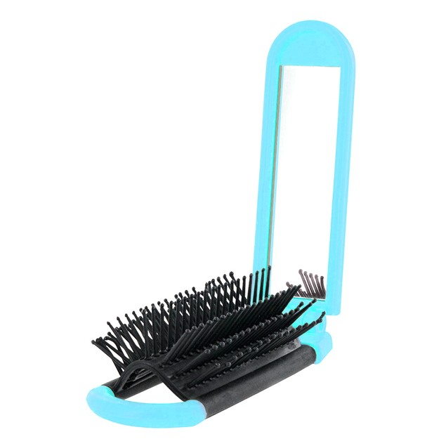Foldable Handy Mirror Hairbrush
