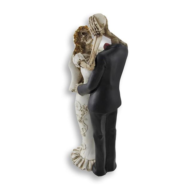 Bride And Groom Skeletons Wedding Statue Cake Statues