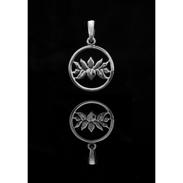 Sterling Silver Cutout Lotus Flower Charm / Pendants
