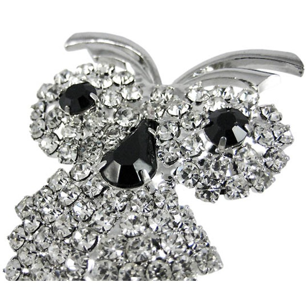 Beautiful Rhinestone Encrusted Owl Pin Brooch Womens Brooches And Pins
