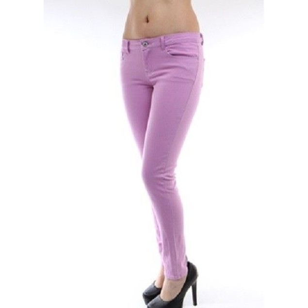 Light Purple Super Skinny Jeans Juniors Straight Leg New With Tags