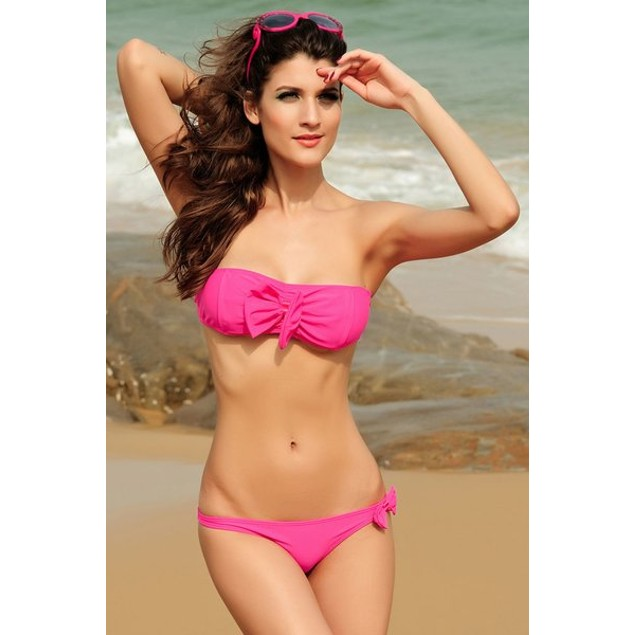 Hot Pink Noble Bikini Swimsuit