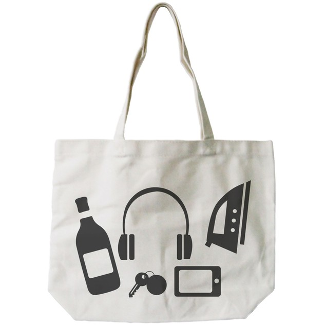Funny Random Personal Belongings Canvas Bag