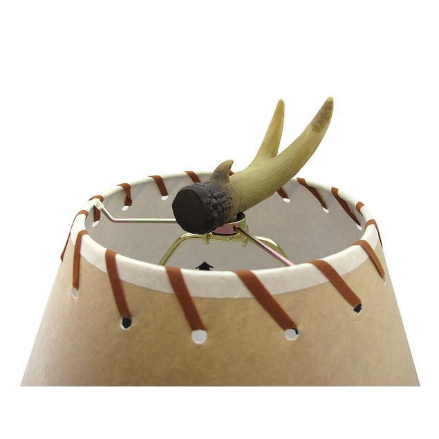 Triple Antler Desk Lamp W/Pine Cone Pull And Desk Lamps