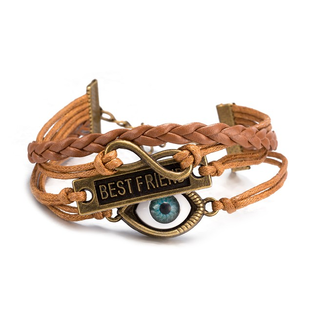 Beige Brown Best Friends Forever Bracelet