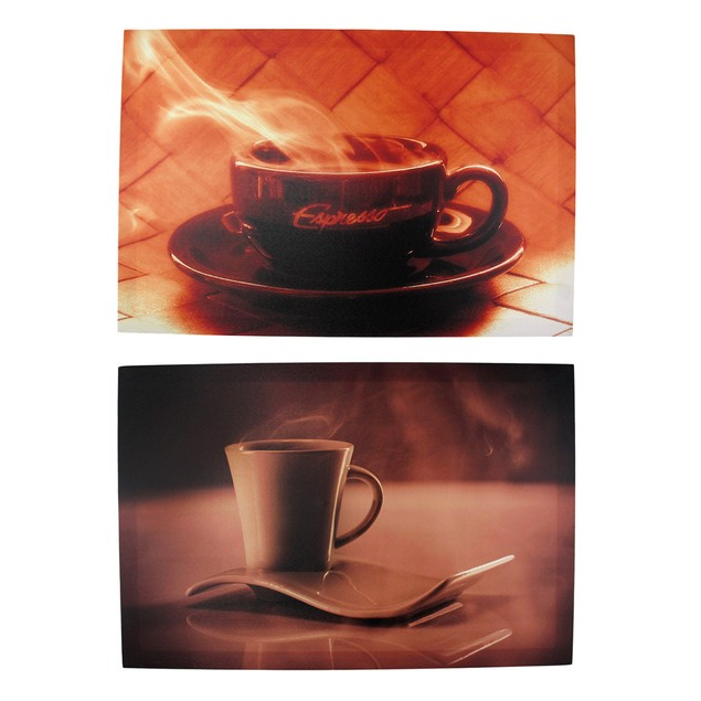 Pair Of Coffee And Espresso Nylon Canvas Wall Prints