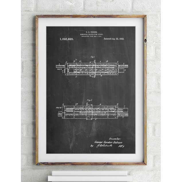 Slide Rule Patent Poster