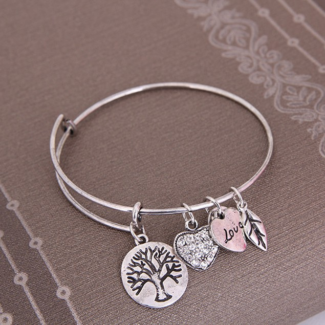 Tree of Life Charm Bangle Bracelet
