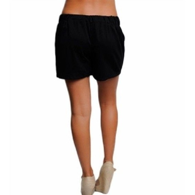 Black Juniors Kessley Skort With Faux Leather Bow Belt New With Tags
