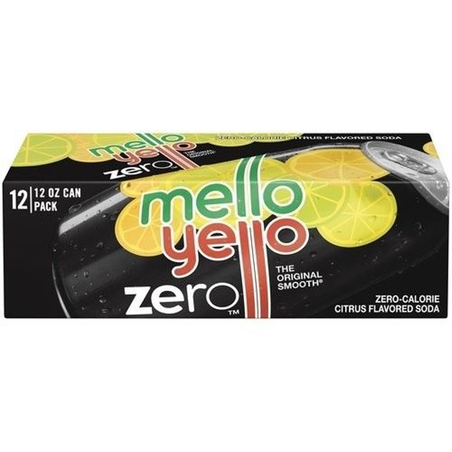 Mello Yellow Zero Soda 12 Pack of Cans