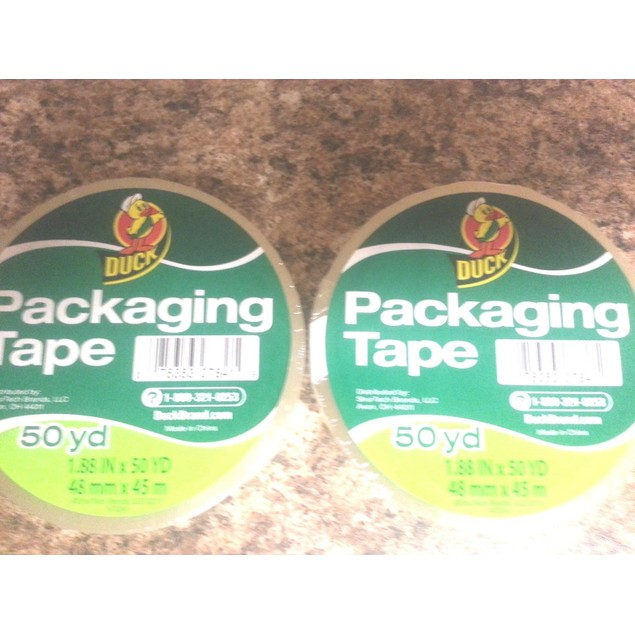 "2 ROLLS CLEAR Duck Packaging Shipping Tape 1.88"" x 50 yards (100yds Total)"
