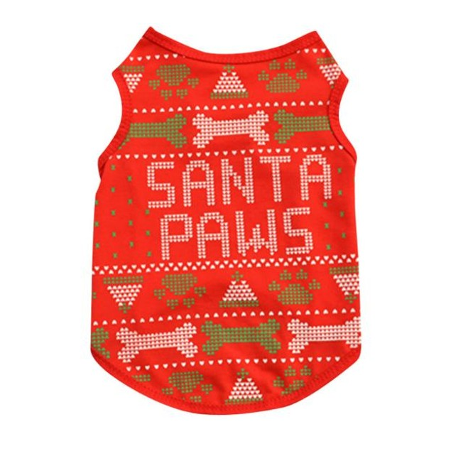 Christmas Bones Pet Vest Cotton T-Shirt