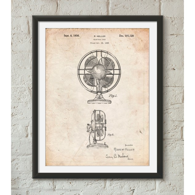 Table Fan Patent Poster