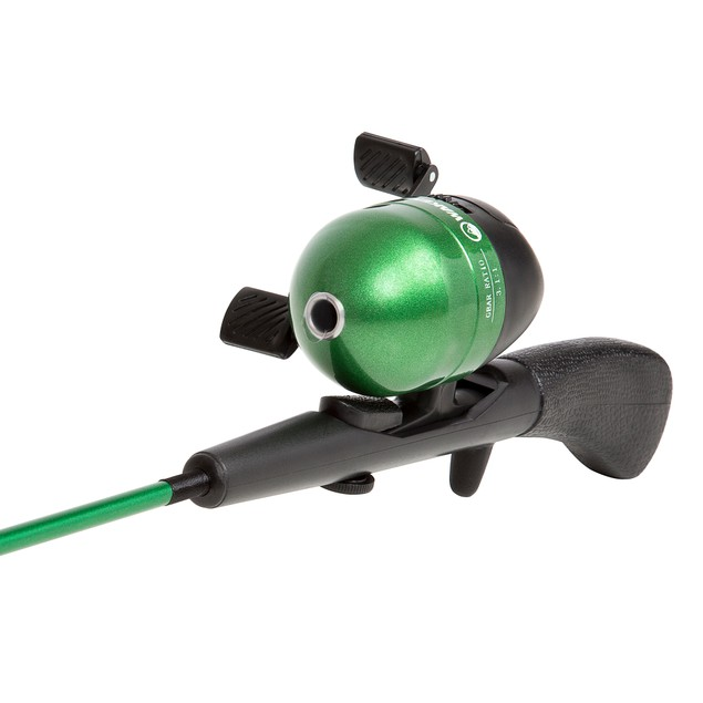 Wakeman Spawn Series Kids Spincast Combo and Tackle Set - Green