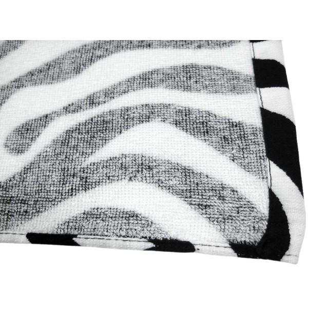 Zebra Striped Beach Towel Black/White 60 In. X 30 Beach Towels