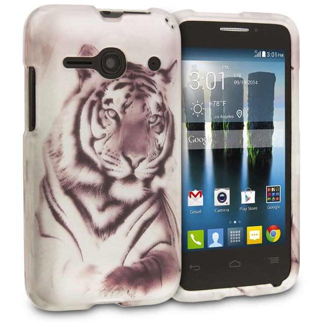 Alcatel One Touch Evolve 2 Hard Rubberized Design Case Cover