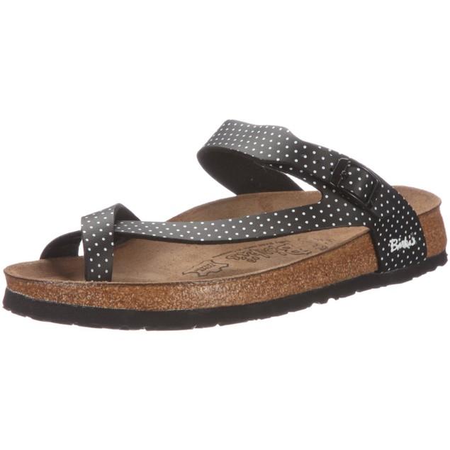 Birki's 'Lennox' Women's Sandal - Black Mini Points White