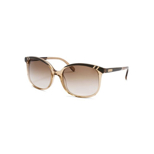 Chloe Belladone Fashion Sunglasses - Khaki with Gold Tone Accents