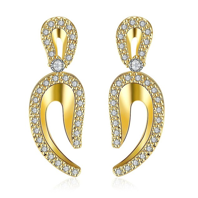 Gold Plated Lucky Horseshoe Earrings
