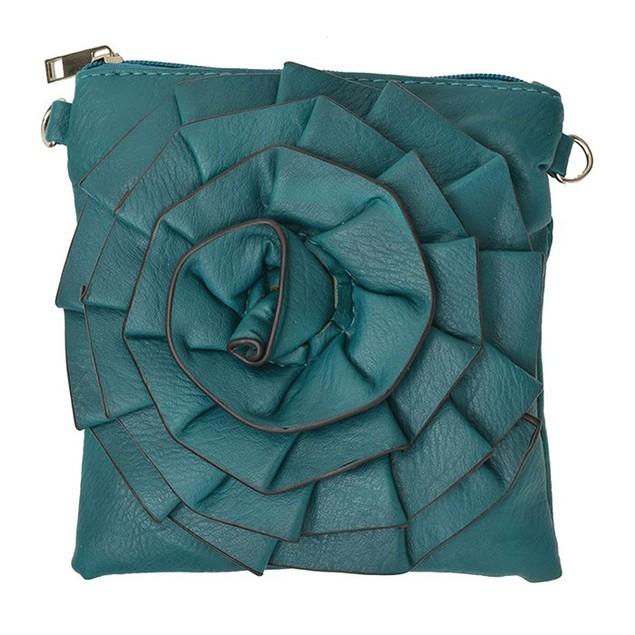 Flower Design Crossbody Handbag