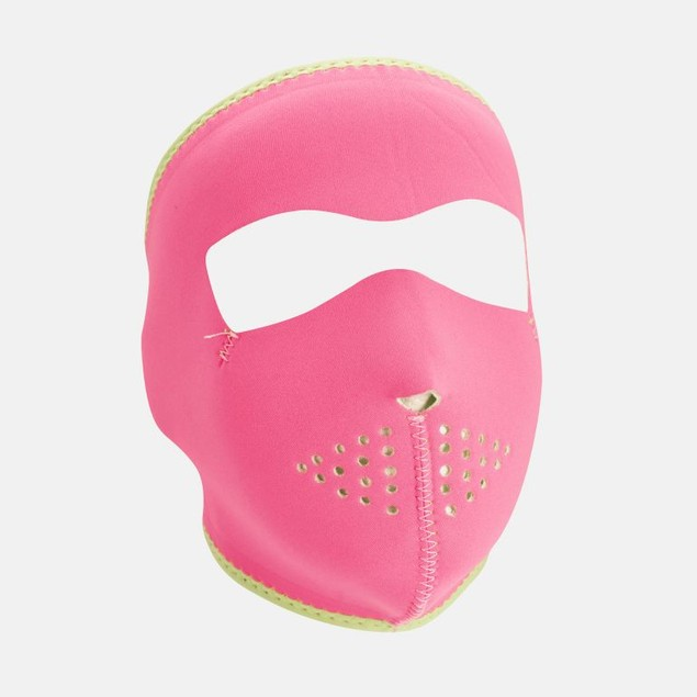 Neoprene Full Mask - Pink Reverses to Lime