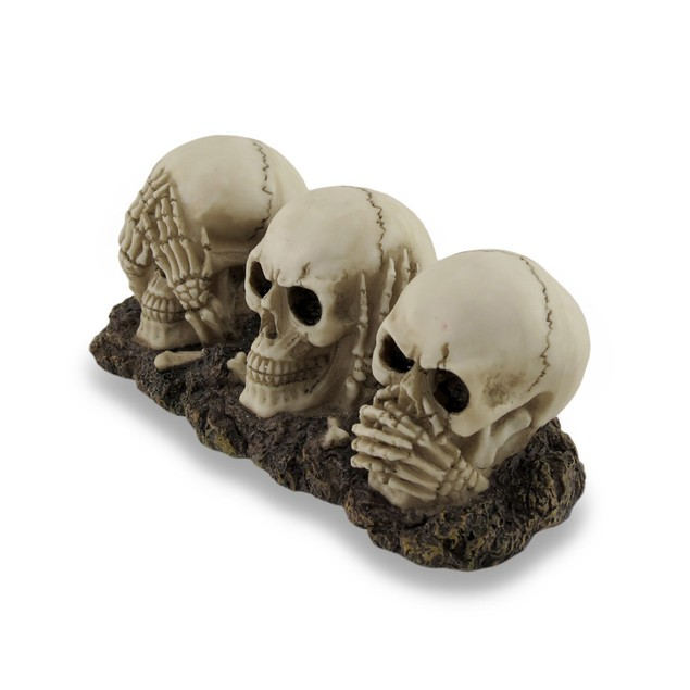 Awesome See, Hear, Speak `No Evil` Skulls Statue Statues